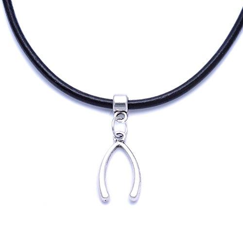 black-real-leather-cord-charm-choker-necklace-pendant-retro-hippy-tibetan-silver-for-women-girl-10-w