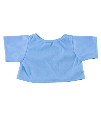 "Blue Basic Tee Shirt Teddy Bear Clothes Fit 14"" - 18"" Build-a-bear, Vermont Teddy Bears, and Make Your Own Stuffed Animals - 1"