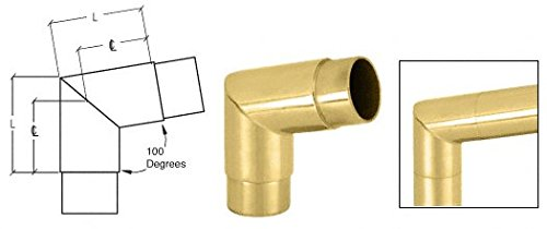 Crl Polished Brass Mitered Style 100 Degree Flush Corners front-918206