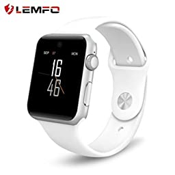 Lemfo LF07 Bluetooth SmartWatch 2.5D ARC HD(White)