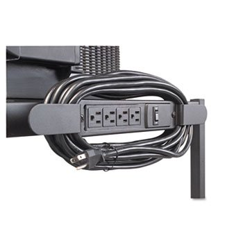 Four-Outlet Electrical Assembly With Winder, 25-Foot Cord, Black