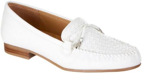 Mootsies Tootsies Mallory Woven Womens Loafers WHITE 9 M Wmns
