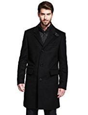 Autograph Wool Rich Notch Lapel Coat with Cashmere