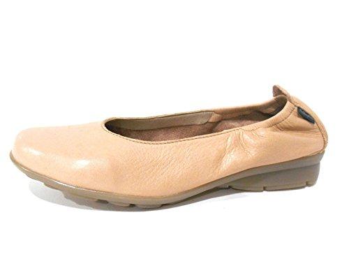 Callaghan scarpe donna ballerine con zeppa in pelle beige rosa 94608