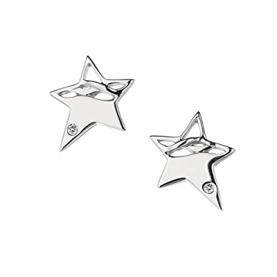 Hot Diamonds Arabesque Eclipse Star Silver And Diamond Earrings