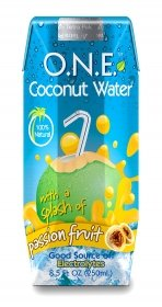 O.N.E. Coconut Water  a Splash of Passion Fruit