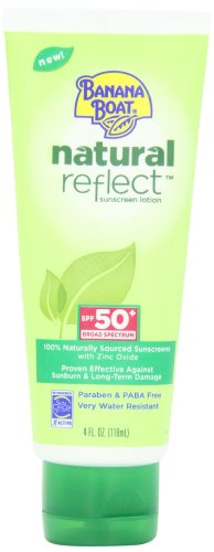 Banana Boat Natural Reflect Sunscreen Lotion SPF 50, 4 Fluid Ounce