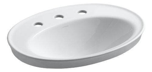 Great Deal! Kohler K-2075-8-0 Serif Self-Rimming Lavatory, White