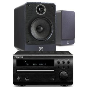 Review and Buying Guide of Cheap Denon DM39DAB Black + Q Acoustics 2020i Walnut (R)