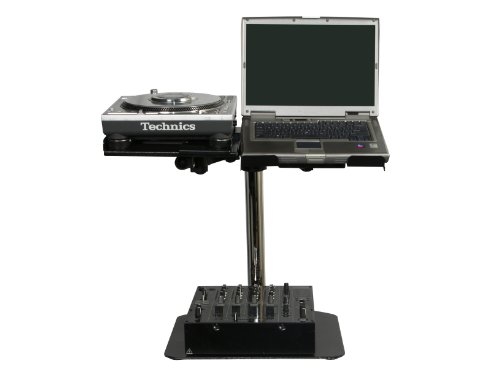 Odyssey Lunispdb L-Evation Universal Laptop / Gear And Pioneer Cdj-100 Plate Stand With Double Arm Package
