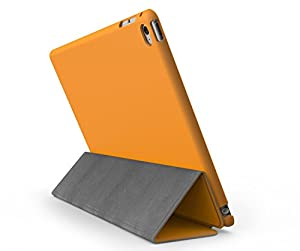 KHOMO iPad Mini 4 Case (Released September 2015) - DUAL Orange Super Slim Cover with Rubberized back and Smart Feature (sleep / wake feature) For Apple iPad Mini 4th Generation Tablet from ipad mini 4 case