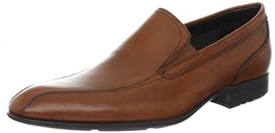 Rockport Men's Dialed In Slip-On,British Tan,9.5 W US