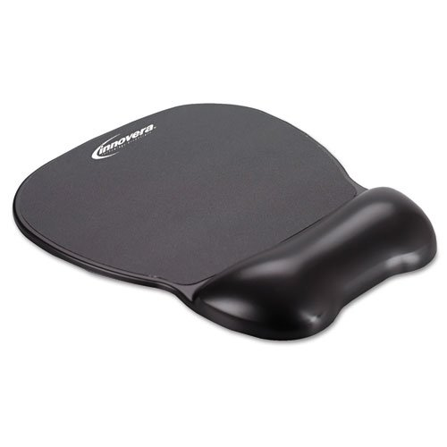 Innovera Gel Mouse Pad with Wrist Rest, Nonskid Base, 9 X 7.5 - Inches Black (51450) (Gel Wrist Mouse Pad compare prices)