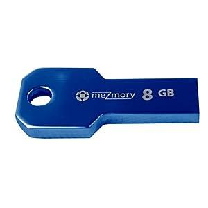 """meZmory """"Key"""" 8 GB USB 2.0 Speicherstick Schlüssel Form aus Metall wasserdicht   Blau"""