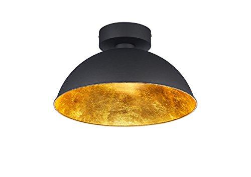Trio Leuchten Plafoniera LED Romino, Nero Opaco, interno oro 676510302