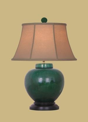 ceramic country style hunt green melon jar lamp table lamps amazon. Black Bedroom Furniture Sets. Home Design Ideas