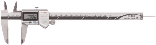 Mitutoyo ABSOLUTE 500-734-10 Digital Caliper, Stainless Steel, Battery Powered, Inch/Metric, 0-8