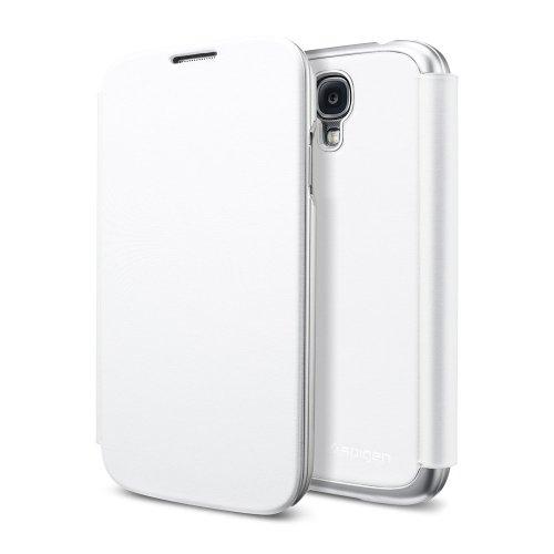 国内正規品SPIGEN SGP Galaxy S4 ケース ウルトラ フリップ [メタリック・ホワイト]SGP10269