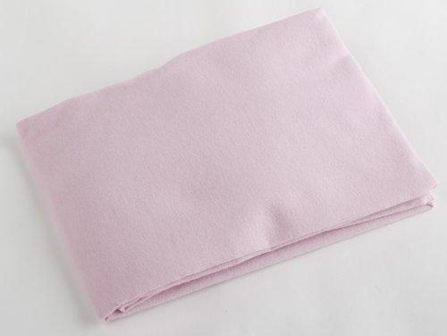 Pram Sheet Flat Pink Flannelette