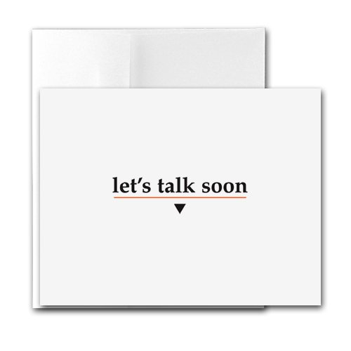 Buy Let's Talk Soon – Contemporary Printer-Compatible Note Cards, Box of 24 cards and envelopes