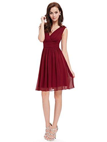 Ever pretty womens fall wedding guest dress 14 us burgundy for Amazon wedding guest dress