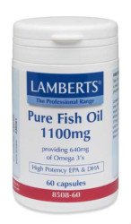 Lamberts Pure Fish Oil 1100mg, 60 Capsules