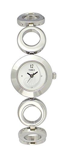 Timex Analog Silver Dial Women's Watch - TW00HX00H