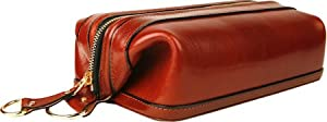 Bosca Old Leather Zipper Utility Kit (Cognac)