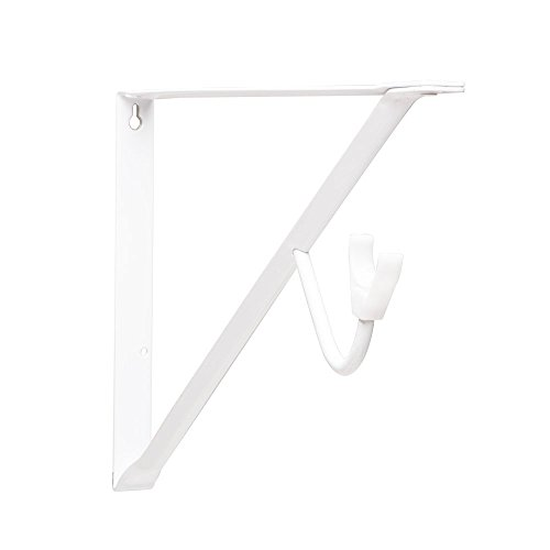 John Sterling RP-0496-WT Heavy Duty Shelf and Rod Bracket, 14-Inch, White (Brackets Rod Shelf compare prices)