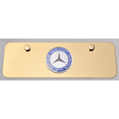 Mercedes benz 3d logo on gold plated license plate new for Mercedes benz license plate logo