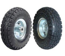 "2 NEW 10"" AIR Tires Wheels 5/8"""