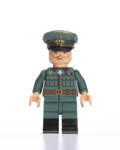 Buy Low Price Blockhead WWII German Officer Highly Detailed Custom Building Action Figure (B004GG381M)