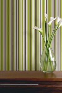 Sophia Stripe Wallpaper - Green by New A-Brend