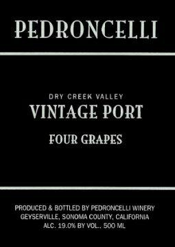 2006 Pedroncelli Estate Dry Creek Four Grapes Port California 500 Ml