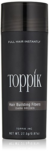 TOPPIK Hair Building Fibers, Dark Brown, 0.97 oz.