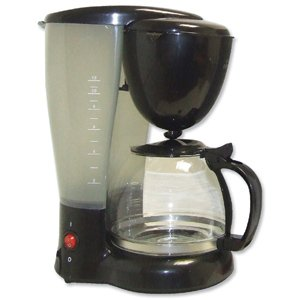 None Filter Coffee Maker Single Jug Capacity 8-10 Cups Black front-578299