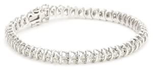Sterling Silver Diamond Tennis Bracelet (1 Cttw, H-I Color, I2-I3 Clarity), 7.5