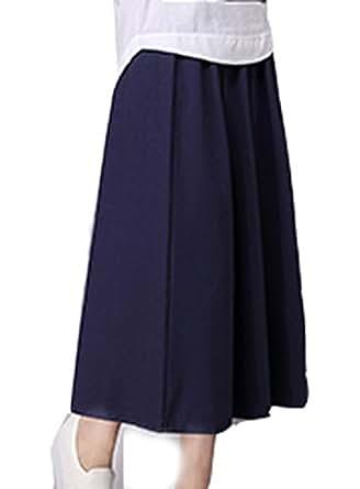 A.tenth Women Linen Long Skirts (dark blue) at Amazon Womenu2019s Clothing store