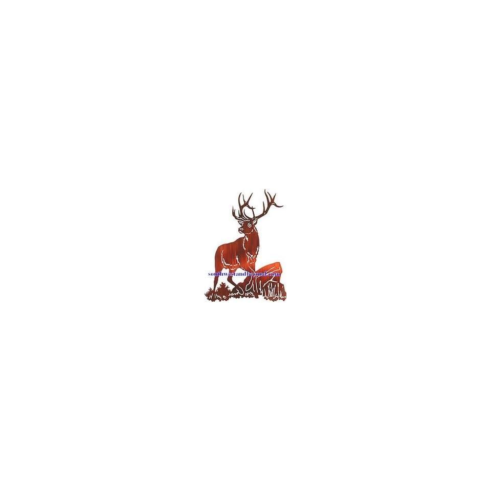 Lazart Metal Wall Art Decor Lazart Wilderness Wildlife Lodge Art