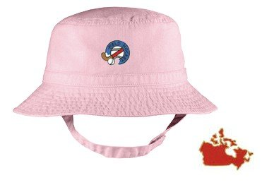 Embroidered Infant Bucket Cap with the image of: canada