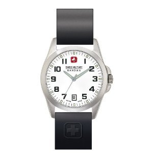 Swiss Military Hanowa Men's Tomax White Dial Rubber Strap Watch 06-4030-04-001R