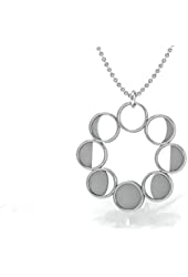 Sterling Silver .925 Necklace Phases of the Moon Pendant ©