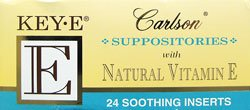 Key-E Suppositories with Natural Vitamin E, 24 Soothing Inserts