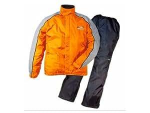 ラフ&ロード デュアルテックス コンパクト レインスーツ オレンジ L RR5232