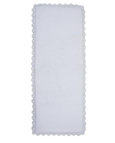 Crochet Bath Runner, White, 22″ x 60″