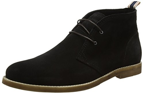Jack & JonesJjalpha Waxed Suede Chukka Boot Anthraci - Stivaletti uomo , Nero (Black (Anthracite)), 41