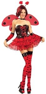 Sexy Lady Bug Adult Costume Size X-Large (14-18)