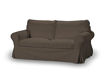 FRANC-TEXTIL 611-705-08 Ektorp 2-Plazas Sofá funda no plegable, sofá funda para 2-plazas Ektorp no plegable, Etna, marrón
