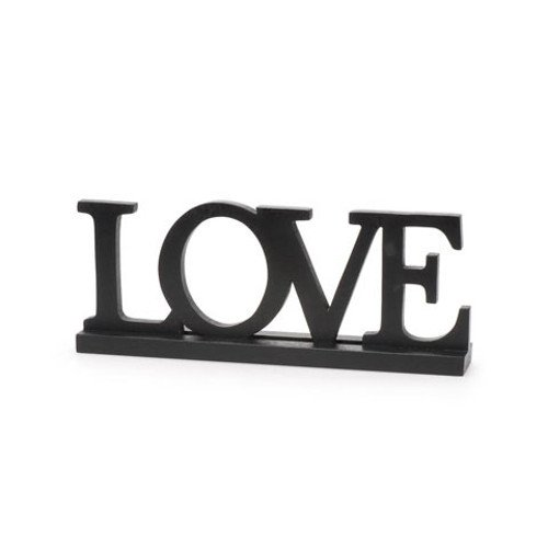 WeGlow International Love Table Top Sign Decor, 12-1/4 x 5
