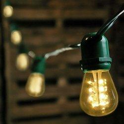 commercial led edison string lights 50 warm white bulbs. Black Bedroom Furniture Sets. Home Design Ideas